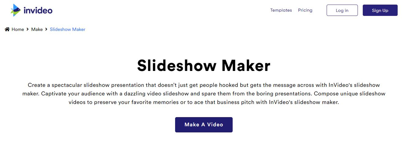 Make a slideshow in minutes