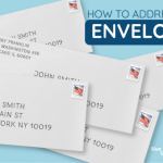 The most effective method to address an envelope